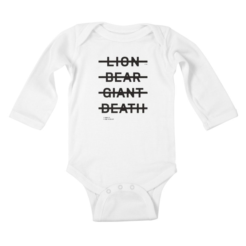 LION, BEAR, GIANT, DEATH Kids Baby Longsleeve Bodysuit by Jamus + Adriana