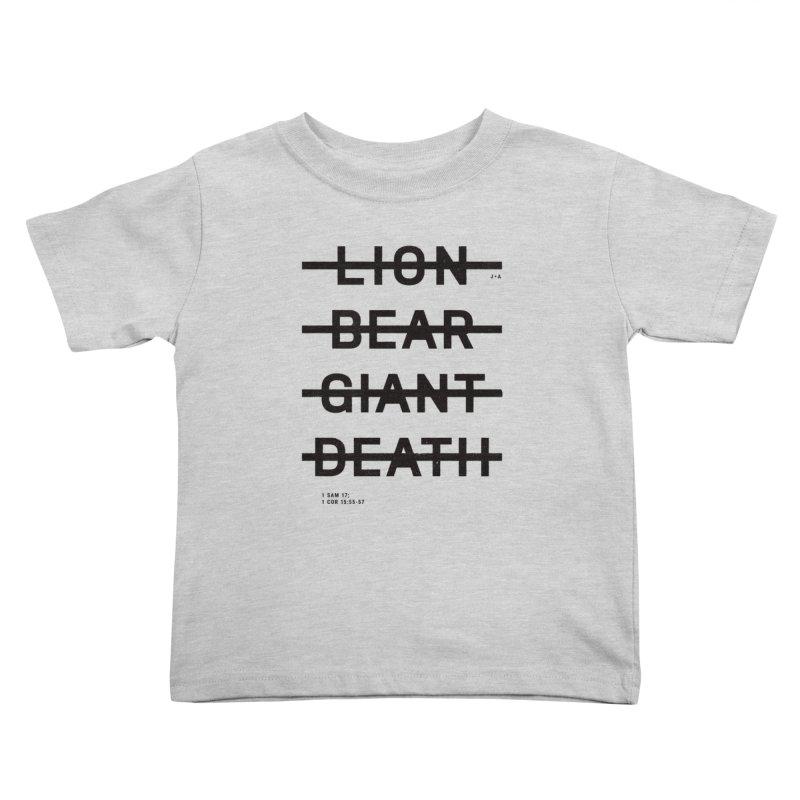 LION, BEAR, GIANT, DEATH Kids Toddler T-Shirt by Jamus + Adriana