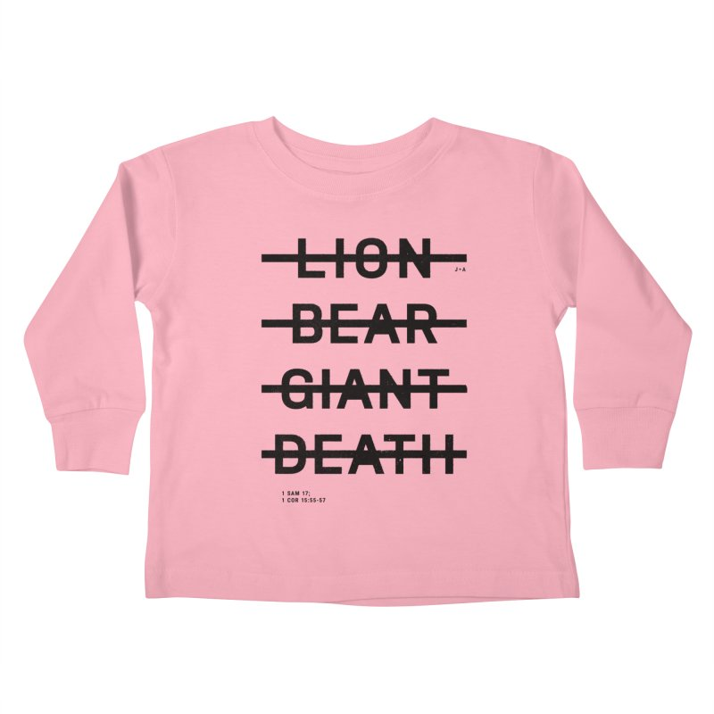 LION, BEAR, GIANT, DEATH Kids Toddler Longsleeve T-Shirt by Jamus + Adriana