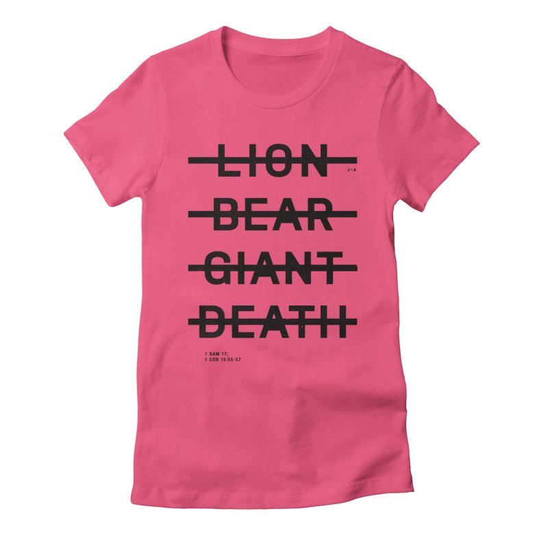 LION, BEAR, GIANT, DEATH Women's T-Shirt by Jamus + Adriana