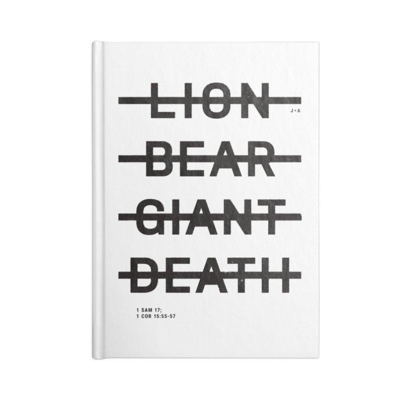 LION, BEAR, GIANT, DEATH Accessories Notebook by Jamus + Adriana