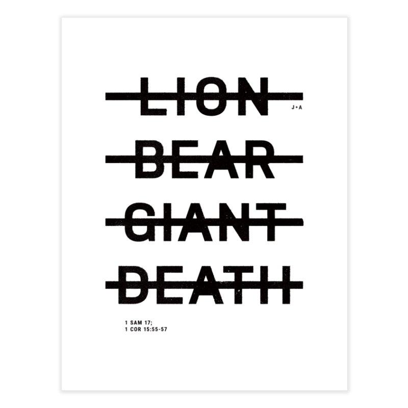 LION, BEAR, GIANT, DEATH Home Fine Art Print by Jamus + Adriana