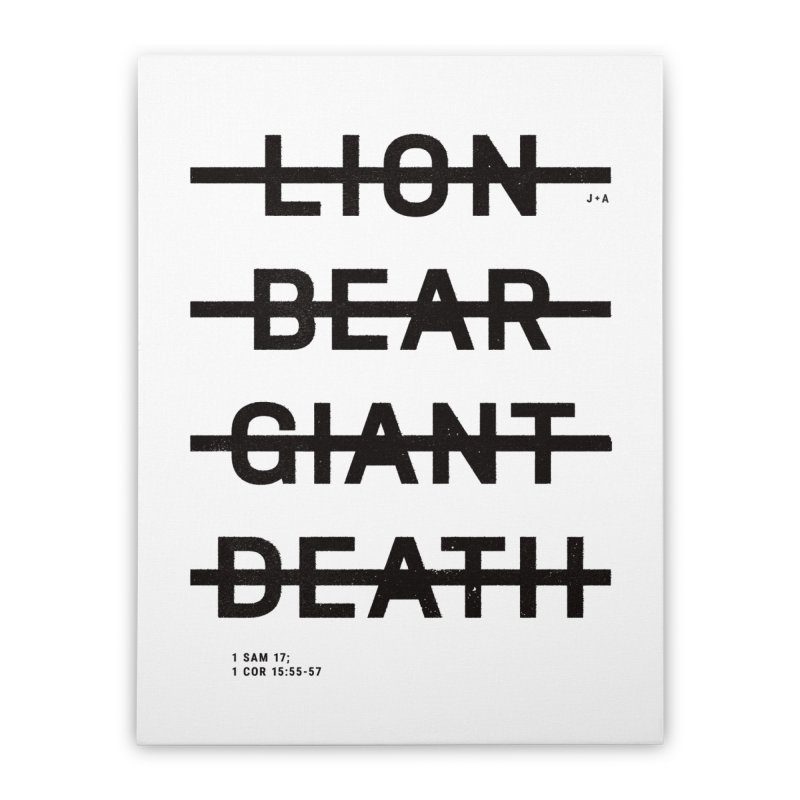 LION, BEAR, GIANT, DEATH Home Stretched Canvas by Jamus + Adriana