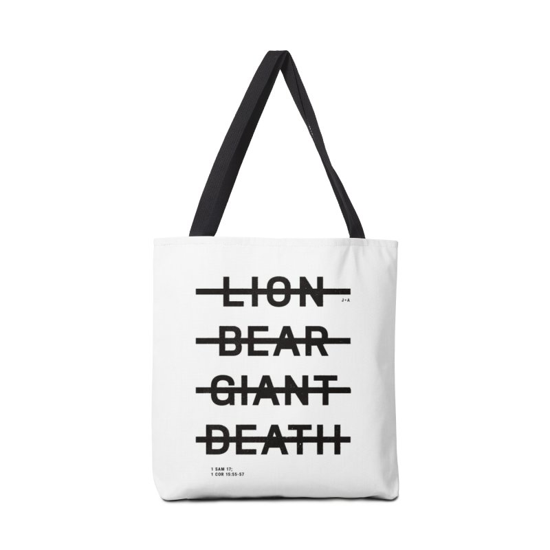 LION, BEAR, GIANT, DEATH Accessories Tote Bag Bag by Jamus + Adriana