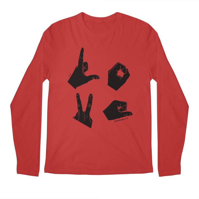 LOVE HANDS Men's Longsleeve T-Shirt by Jamus + Adriana