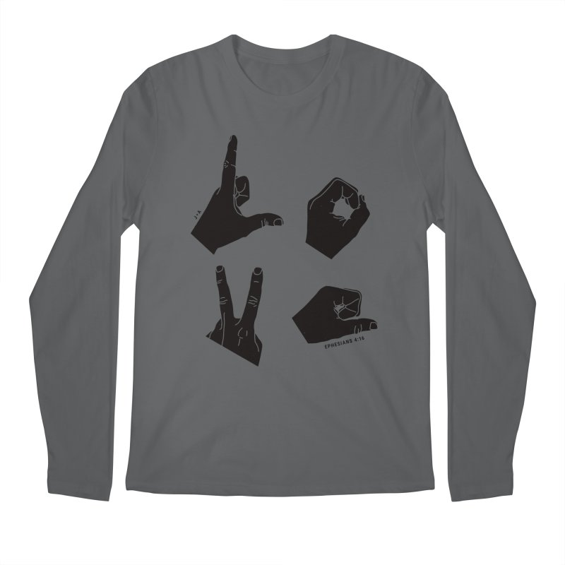 LOVE HANDS Men's Longsleeve T-Shirt by Jamus + Adriana