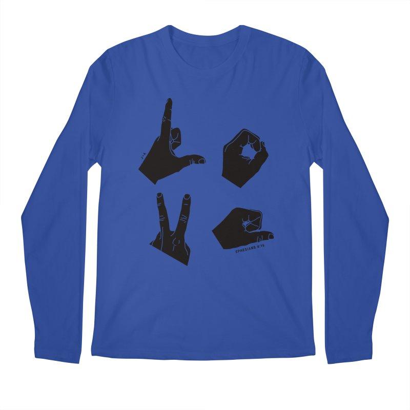 LOVE HANDS Men's Regular Longsleeve T-Shirt by Jamus + Adriana