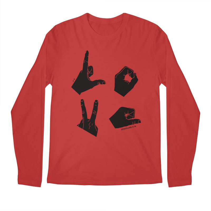 LOVE HANDS Men's Regular Longsleeve T-Shirt by Jamus + Adriana