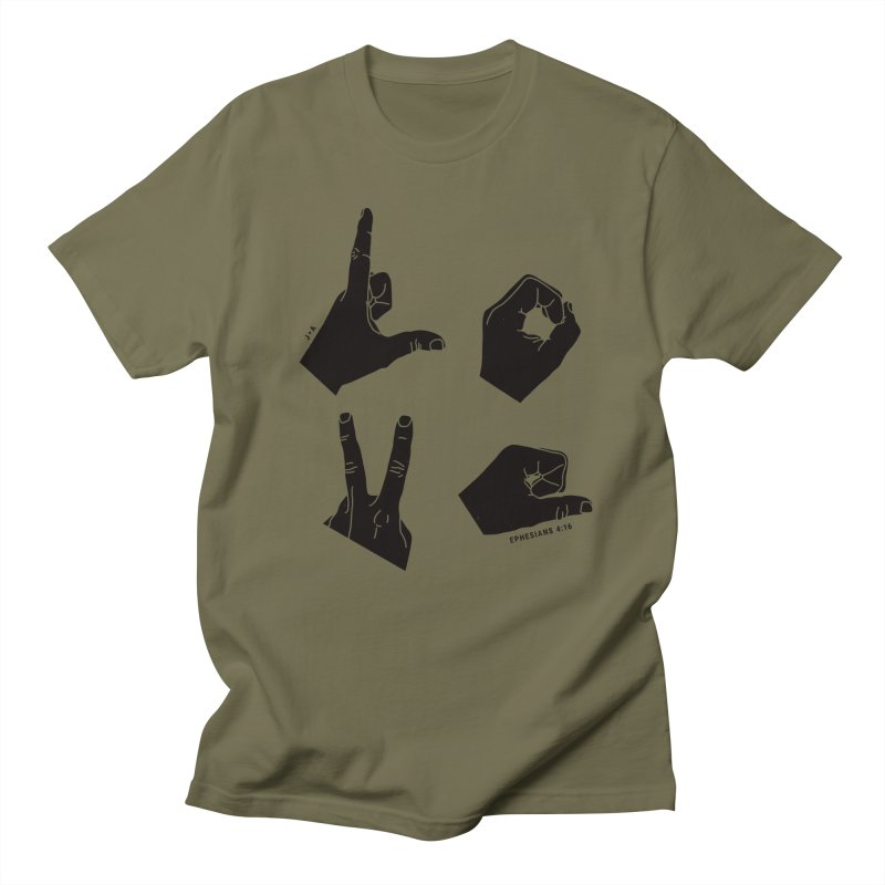 LOVE HANDS Men's T-Shirt by Jamus + Adriana