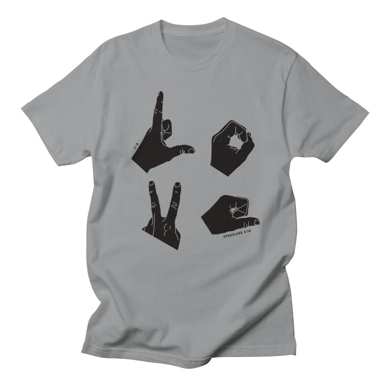 LOVE HANDS Men's T-Shirt by Jamus + Adriana