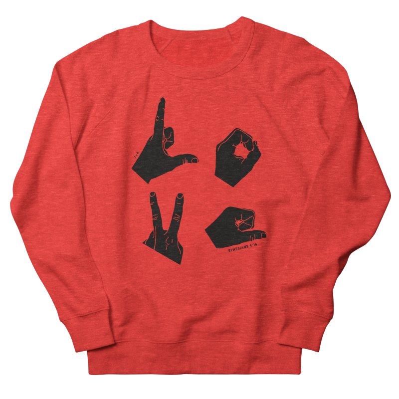 LOVE HANDS Women's Sweatshirt by Jamus + Adriana