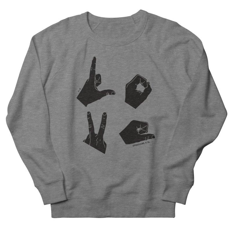 LOVE HANDS Men's Sweatshirt by Jamus + Adriana