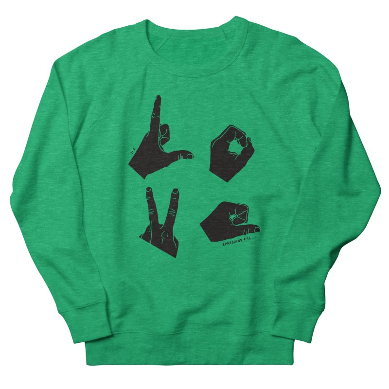 LOVE HANDS Men's Sweatshirt by Jamus + Adriana