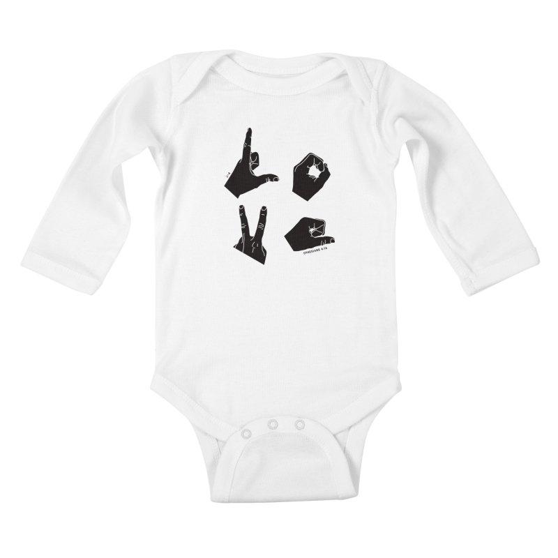 LOVE HANDS Kids Baby Longsleeve Bodysuit by Jamus + Adriana