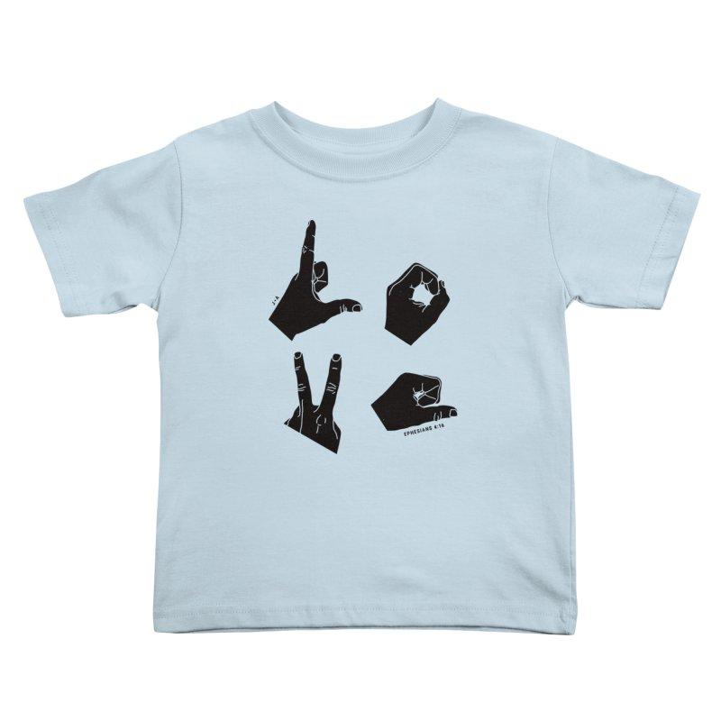 LOVE HANDS Kids Toddler T-Shirt by Jamus + Adriana