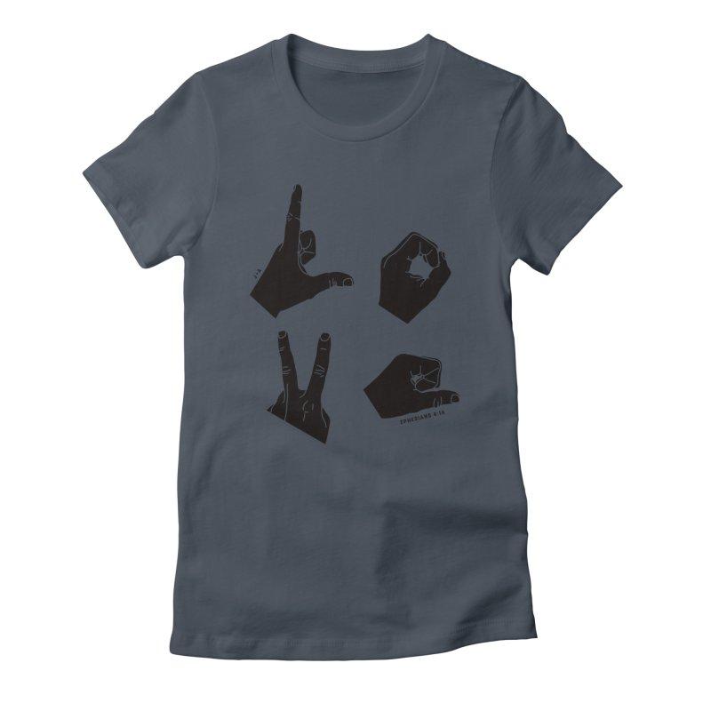 LOVE HANDS Women's T-Shirt by Jamus + Adriana