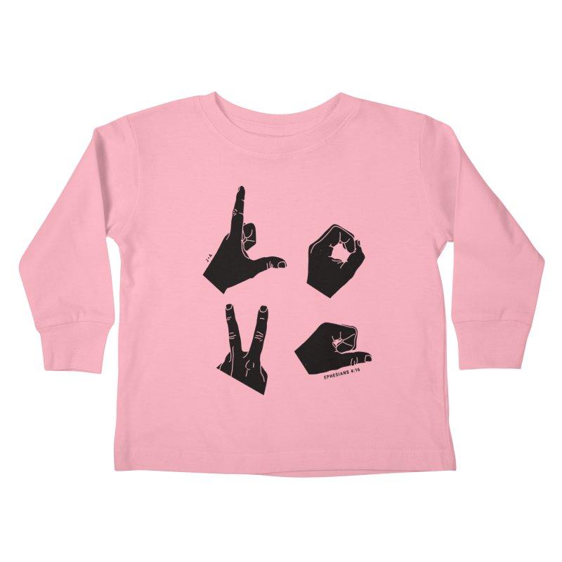 LOVE HANDS Kids Toddler Longsleeve T-Shirt by Jamus + Adriana