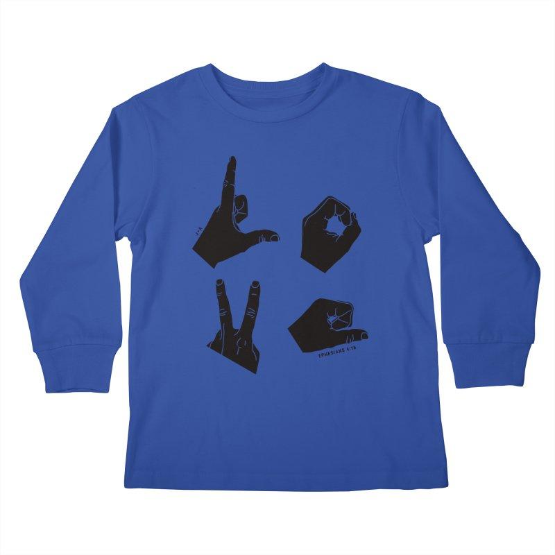 LOVE HANDS Kids Longsleeve T-Shirt by Jamus + Adriana