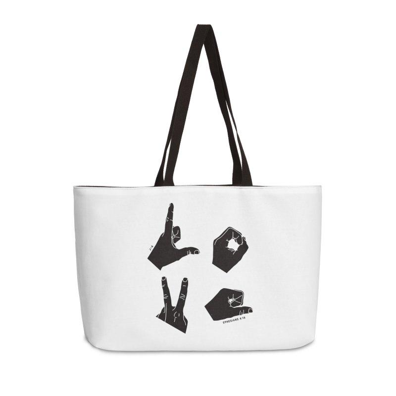 LOVE HANDS Accessories Weekender Bag Bag by Jamus + Adriana