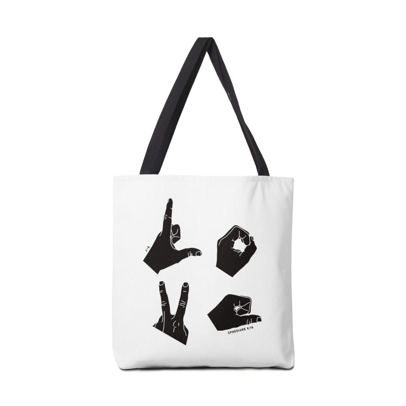 LOVE HANDS Accessories Bag by Jamus + Adriana