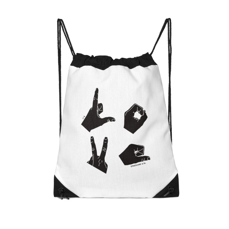 LOVE HANDS Accessories Bag by Jamus + Adriana