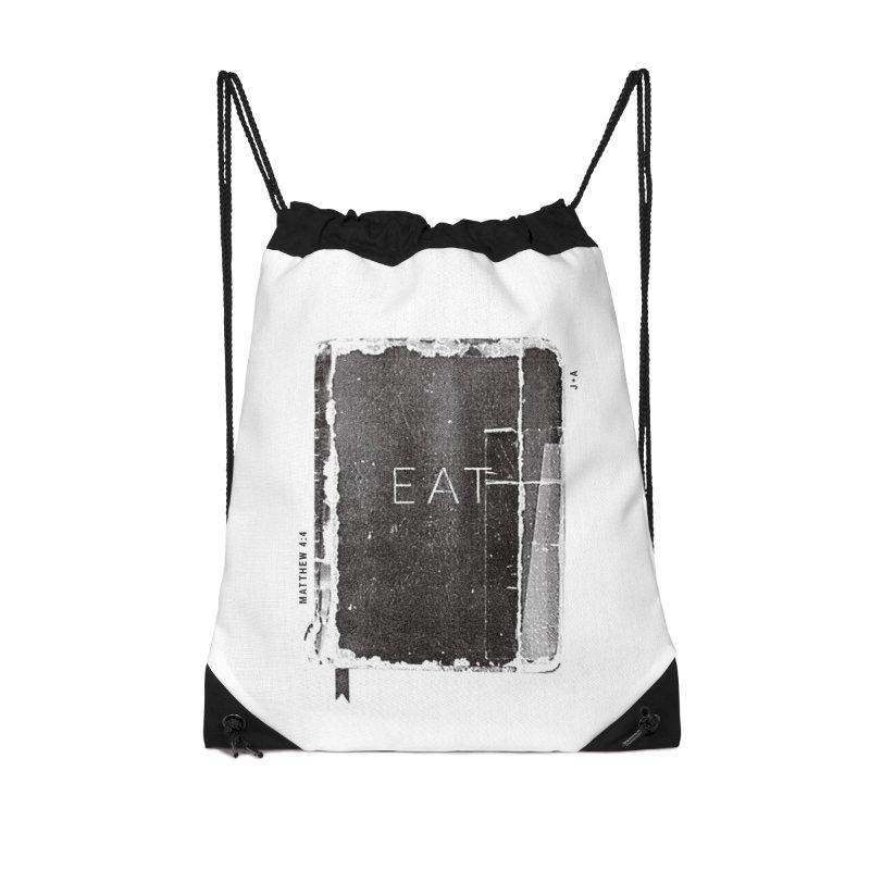 EAT Accessories Drawstring Bag Bag by Jamus + Adriana