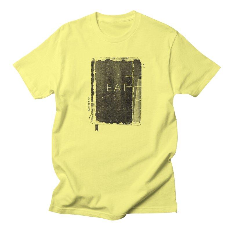 EAT in Men's Regular T-Shirt Lemon by Jamus + Adriana