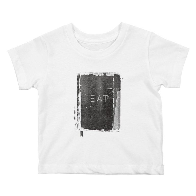 EAT Kids Baby T-Shirt by Jamus + Adriana