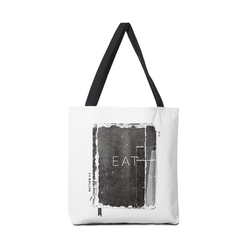 EAT in Tote Bag by Jamus + Adriana