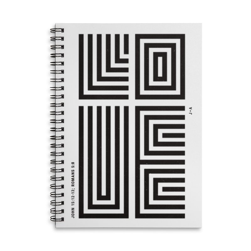 LOVE CROSS Accessories Lined Spiral Notebook by Jamus + Adriana