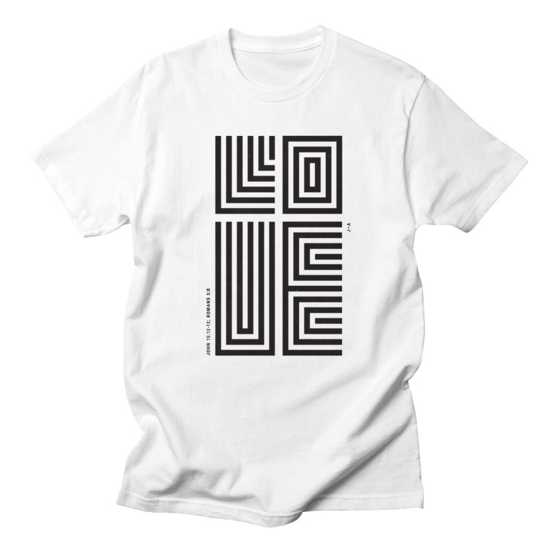 LOVE CROSS Men's T-Shirt by Jamus + Adriana