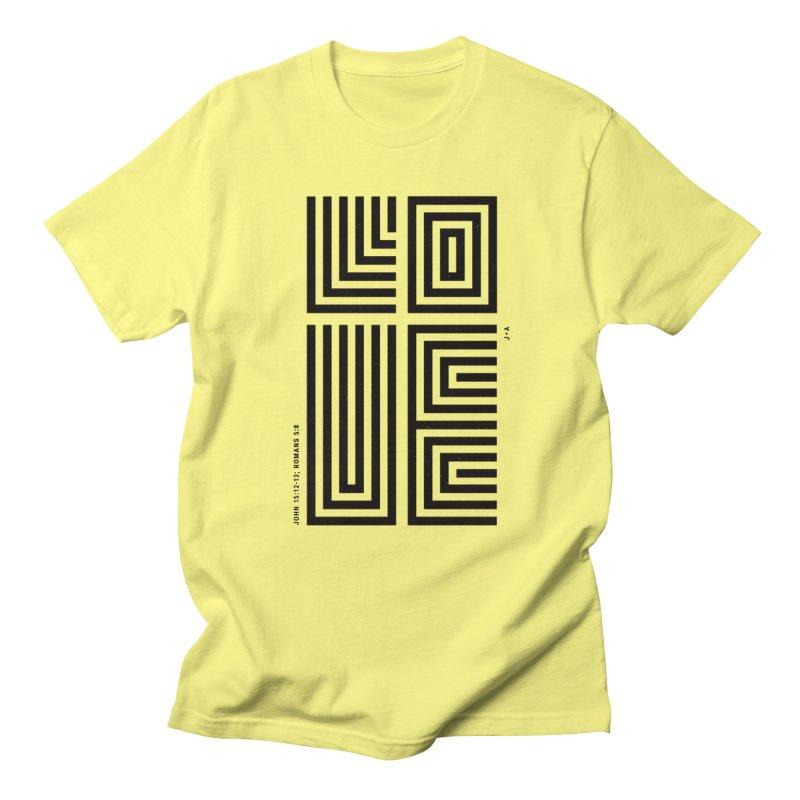 LOVE CROSS Men's T-Shirt by Jamus + Adriana