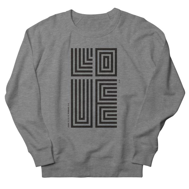 LOVE CROSS Men's French Terry Sweatshirt by Jamus + Adriana