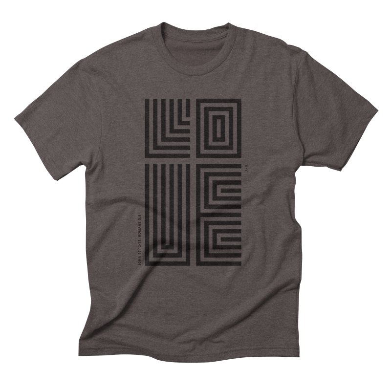LOVE CROSS Men's Triblend T-Shirt by Jamus + Adriana