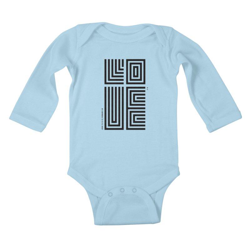 LOVE CROSS Kids Baby Longsleeve Bodysuit by Jamus + Adriana