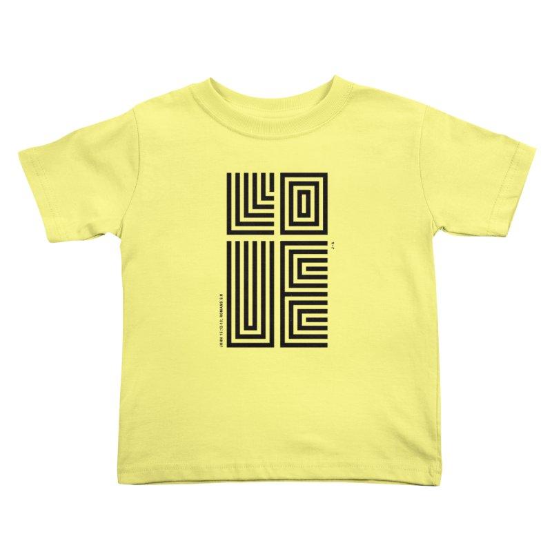 LOVE CROSS Kids Toddler T-Shirt by Jamus + Adriana