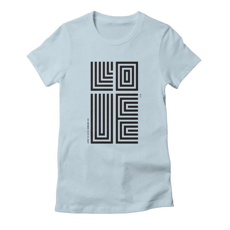 LOVE CROSS Women's T-Shirt by Jamus + Adriana