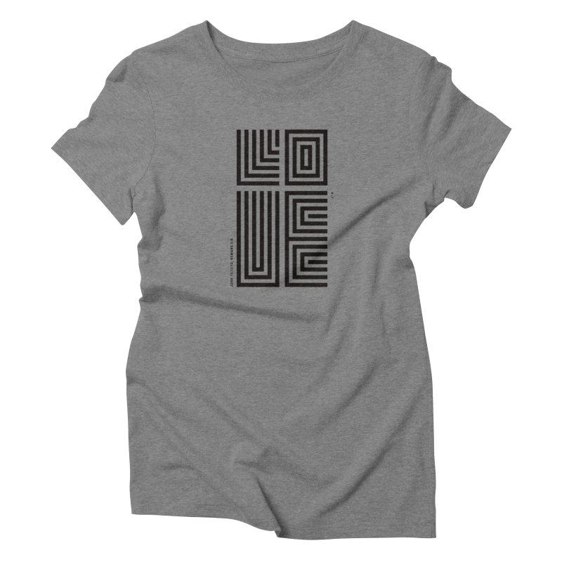 LOVE CROSS in Women's Triblend T-Shirt Grey Triblend by Jamus + Adriana