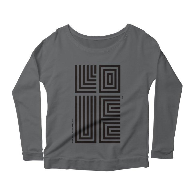 LOVE CROSS Women's Longsleeve T-Shirt by Jamus + Adriana