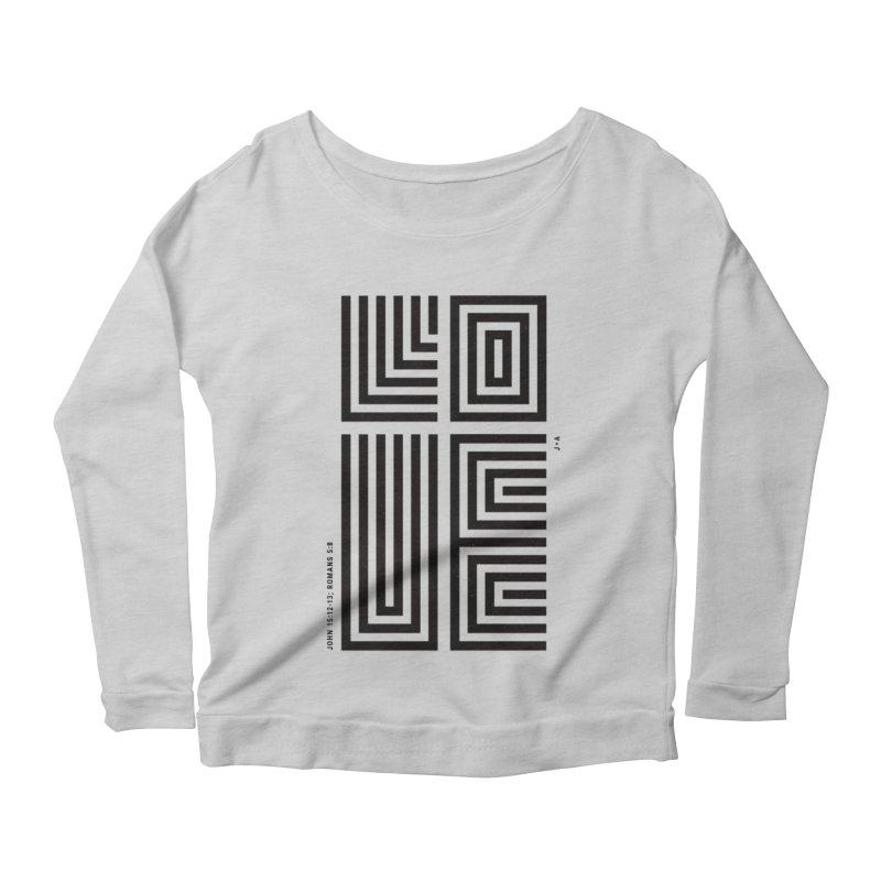 LOVE CROSS Women's Scoop Neck Longsleeve T-Shirt by Jamus + Adriana