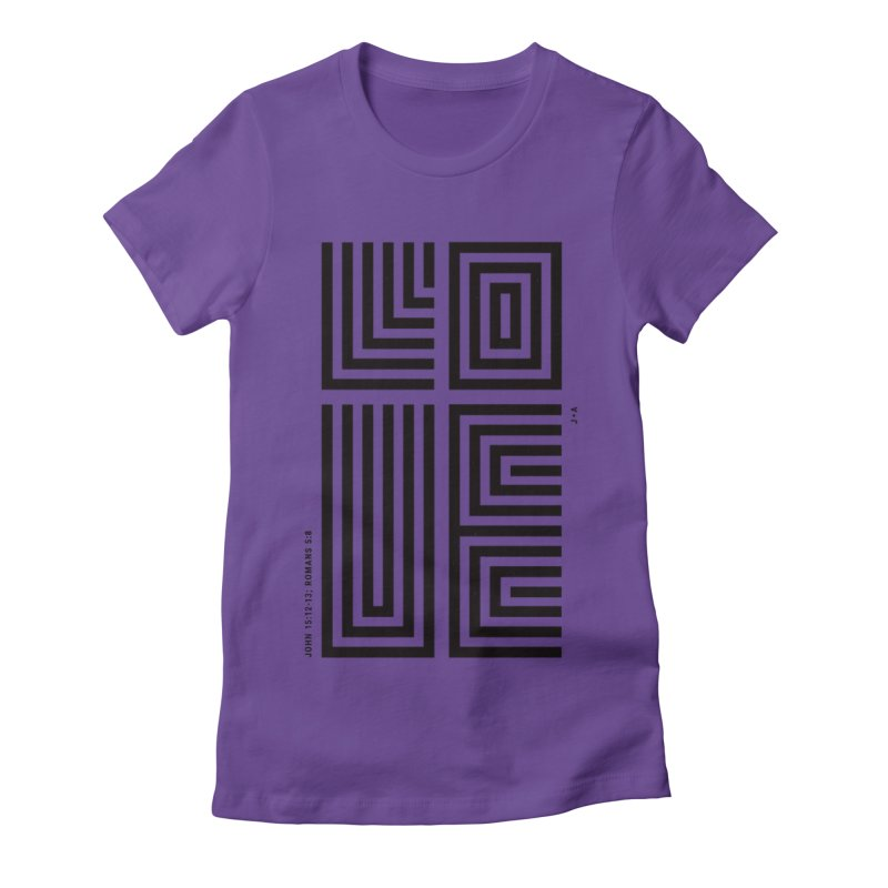 LOVE CROSS Women's Fitted T-Shirt by Jamus + Adriana