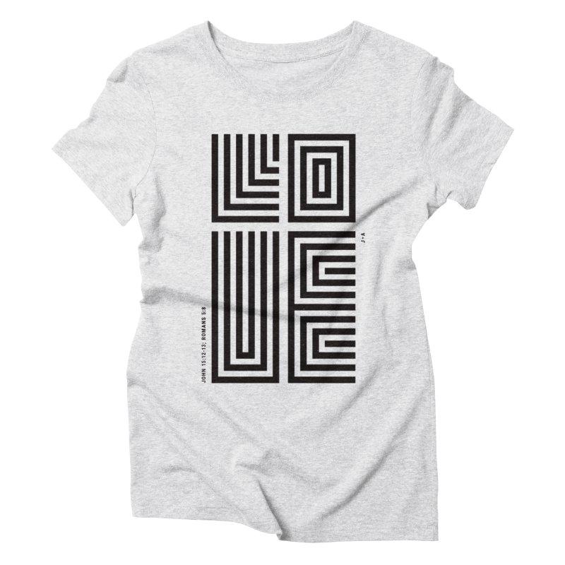 LOVE CROSS Women's Triblend T-Shirt by Jamus + Adriana