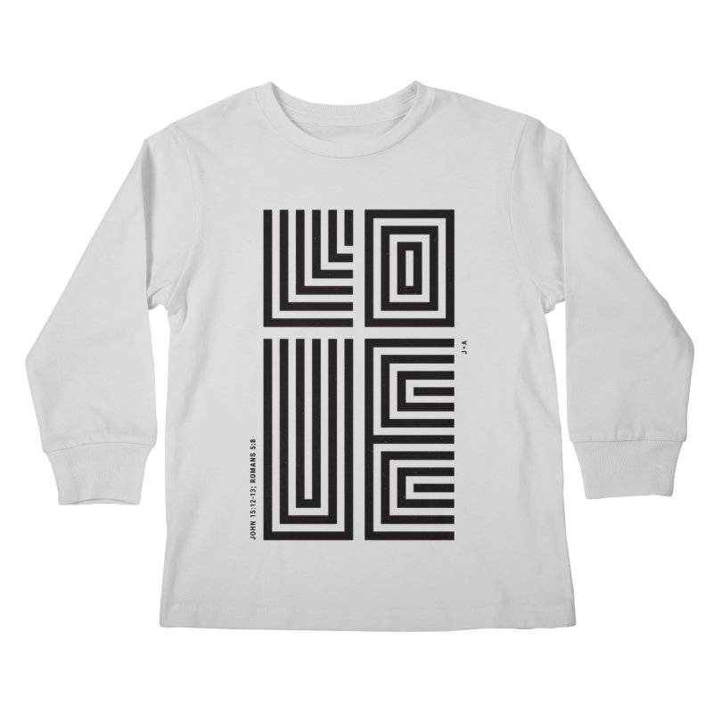 LOVE CROSS Kids Longsleeve T-Shirt by Jamus + Adriana