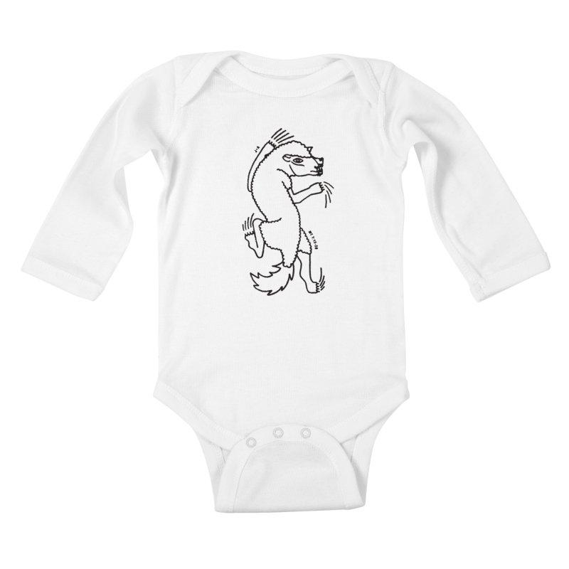 WOLF IN SHEEP'S CLOTHING Kids Baby Longsleeve Bodysuit by Jamus + Adriana