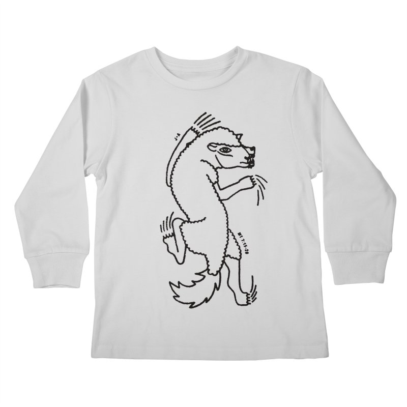 WOLF IN SHEEP'S CLOTHING Kids Longsleeve T-Shirt by Jamus + Adriana