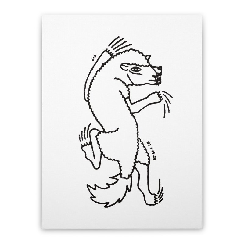 WOLF IN SHEEP'S CLOTHING Home Stretched Canvas by Jamus + Adriana