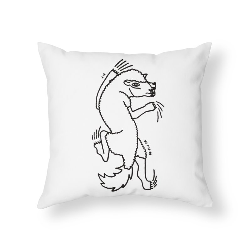 WOLF IN SHEEP'S CLOTHING Home Throw Pillow by Jamus + Adriana