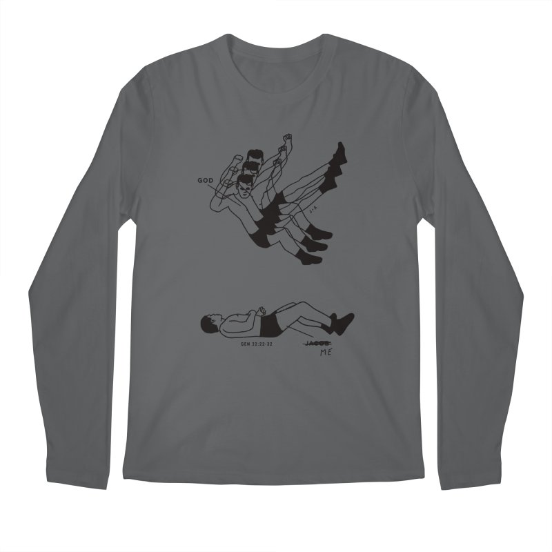 WRESTLING WITH GOD Men's Longsleeve T-Shirt by Jamus + Adriana
