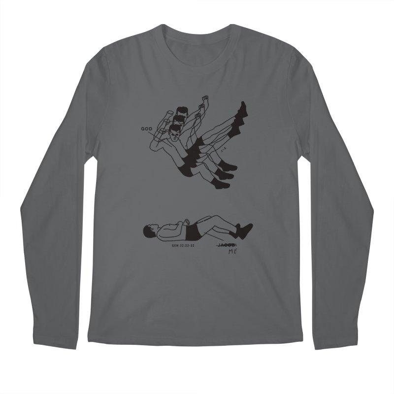 WRESTLING WITH GOD Men's Longsleeve T-Shirt by Jamus + Adriana