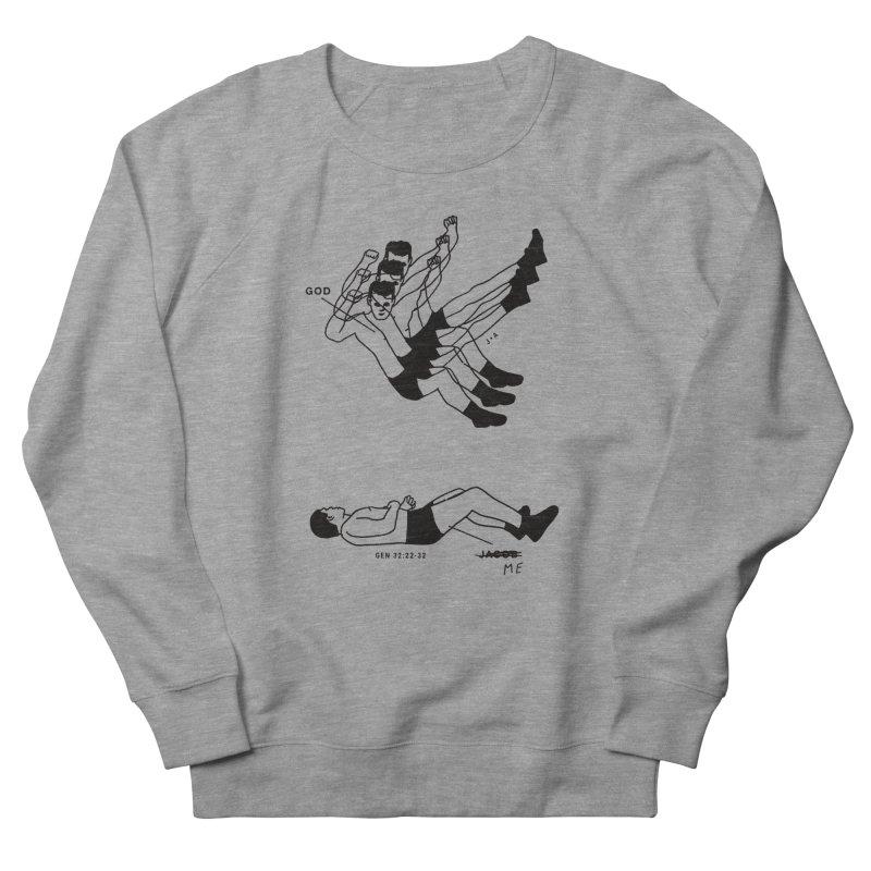 WRESTLING WITH GOD Men's Sweatshirt by Jamus + Adriana